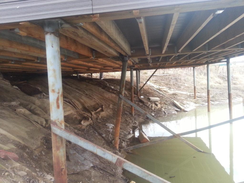 перенос дома на свайный фундамент